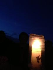 Nachtwache mit 72-Stunden-Kerze